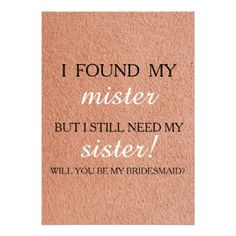 #glitter - #Will you be my bridesmaid? card