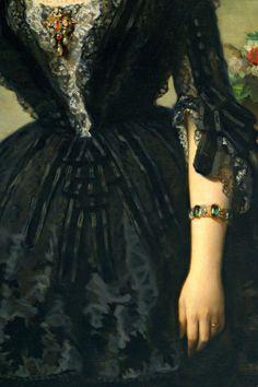 """María Dolores de Aldama y Alfonso, marquesa de Montelo"""" (detail) by Federico de Madrazo y Kuntz."""