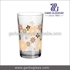 8oz printing glassware printing glass cup for gift