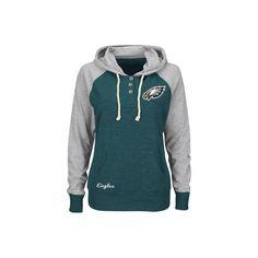 Womens Philadelphia Eagles '47 Brand Green Primetime Hooded Long ...