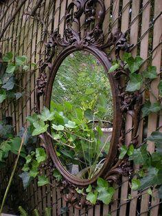 A mirror in the garden...