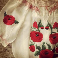 """""""From my private collection- #vintage #embroidered #rayon #blouse #EasternEuropean"""""""