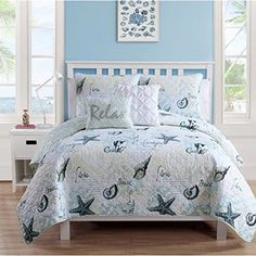 Coastal Bedding Ideas! Find the best coastal themed bedding sets, comforters, quilts, duvet covers, sheets, shams, and more.
