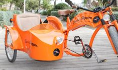 Electric Chopper - Electric Chopper: Alquiler de bicicleta, tándem o bicicleta con sidecar eléctricos durante 1 o 3 horas desde 4,95 € en Electric Chopper Bici Retro, Bike With Sidecar, Cruiser Bicycle, Chopper Bike, Electric Bicycle, Valencia, Cars Motorcycles, Chevrolet, Baby Strollers