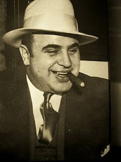 Al Capone, one of the most notorious gangsters from the 1920s