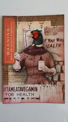 "Postage People ATC - ""Vitameatavegamin Is For The Birds!"" by Marita Kovalik"