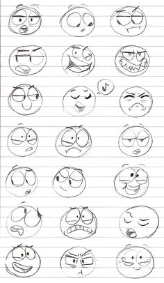 Sharp Art — A bunch of expression doodles. Sorry if some of...