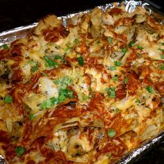 Chicken Enchilada Nachos