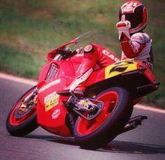 The great Randy Mamola, Cagiva 500.