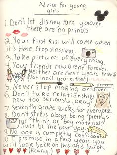 Advice for young girls.
