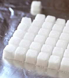 These Healthy Homemade Sugar Cubes taste just like the storebought ones except this recipe is low calorie, low carb, sugar free, fat free, gluten free and vegan! Healthy Dessert Recipes, Diabetic Recipes, Healthy Desserts, Low Carb Recipes, Paleo Food, Sweets Recipes, Yummy Recipes, Free Recipes, Cube Recipe