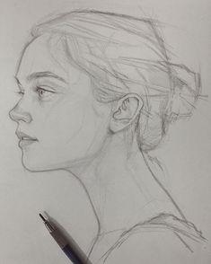 Portrait Femme Profil Thumb 5 Dessins Portraits