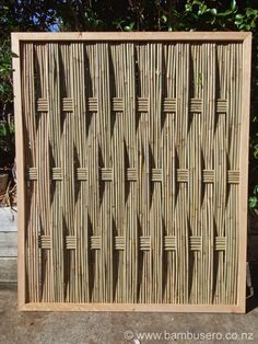 Bamboo fence panel by Bambusero Auckland, New Zealand Bamboo Panels, Bamboo Art, Bamboo Crafts, Bamboo Fence, Bamboo Fencing Ideas, Fence Gate Design, Bamboo House Design, Bamboo Structure, Bamboo Construction