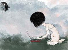 sputnik - haruki murakami illustration :: sumire