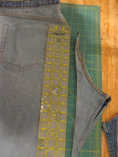Show Tell Share: Men's Jeans To Skirt With Bleach Pen Art - STASH