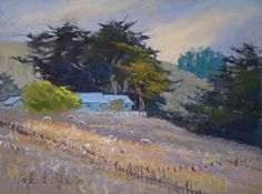 "Late Grazing 9 x 12"" pastel landscape painting by Clark Mitchell  pastel paintings, original art, art for sale, landscape paintings, California paintings, plein air, plein air paintings, landscape paintings for sale, canvas artwork for sale, original fine art for sale, original oil paintings for sale, framed wall art, painted landscape, great landscape artists, scenery paintings, beautiful landscape paintings,"
