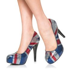 Union Jack sequins! I NEED THESE SHOES!!!!