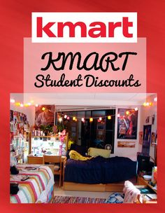 Get a student discount on dorm stuff & more at KMART!
