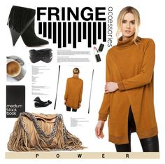 """Fringe Power"" by bagsaporter ❤ liked on Polyvore featuring IRO, Dinks, Akira Black Label, Sigma Beauty, Plein Sud and STELLA McCARTNEY"