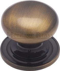Pewter Ø 32mm Knob Hafele Eden Antique Brass Kitchen Cabinet Drawer Handle