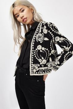 Lace Embroidered Jacket | Topshop