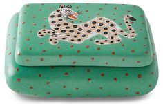 Waylande Gregory Leopard Green Curved Box: Love this thing. Home Decor Accessories, Decorative Accessories, Sustainable Gifts, Bees Knees, Accent Decor, Coin Purse, Green, Strange Things, Nice Things