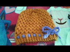 Cómo tejer gorro de lana a dos agujas - ¡Muy Fácil! Para Principiantes - YouTube