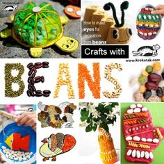 beans  crafts for kids