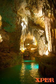 Underground rafts, Xplor Park. Cancun, Quintana Roo, Mexico