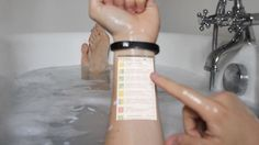 Turn Your Arm Into A Touchscreen Phone With This Brilliant Wristband  By Melissa Goh, 11 Dec 2014 Comment Share   The 'Cicret bracelet' is a brilliant device that lets you turn your arm into a touchscreen, which is synced to your smartphone.