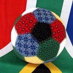 Shweshwe soccer ball just a little bit of soccerok maybe