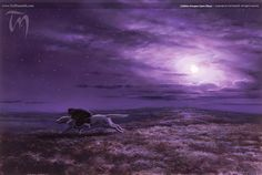 Lúthien Escapes Upon Huan (2004) | Ted Nasmith - Tolkien Illustrator - Renderer - Musician