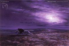 Lúthien Escapes Upon Huan (2004)   Ted Nasmith - Tolkien Illustrator - Renderer - Musician