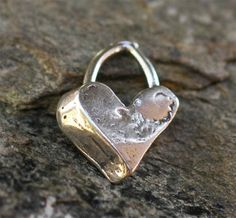 FIVE Rustic Edge Heart Charms in Sterling Silver by cathydailey, $21.95