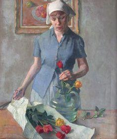 Persephone and Flowers  by Robert Brackman (American artist, 1898–1980)
