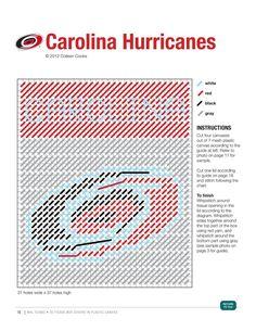 NHL CAROLINA HURRICANES (1/3) Plastic Canvas Coasters, Plastic Canvas Tissue Boxes, Plastic Canvas Crafts, Plastic Canvas Patterns, Football Canvas, Tissue Box Covers, Tissue Holders, The Diagram, Kleenex Box