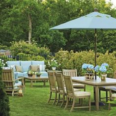 In The Garden, Croquet Teak Collection by Summer Classics