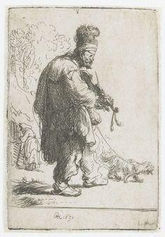 De blinde violist, Rembrandt Harmensz. van Rijn, 1631