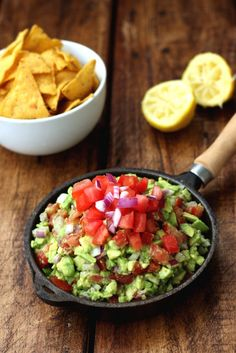 Rainbow Guacamole and Chips