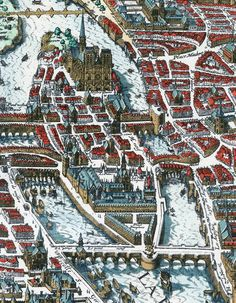 Old View of Paris Panoramic Map Merian Historic Gravure Engraving 1615 World Map Art, Old World Maps, Old Maps, Antique World Map, Antique Maps, Paris Map, Paris France, Tourist Map, Photo Mural