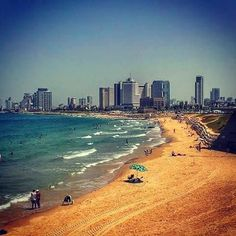 #beach in #telaviv in #israel is known as one of the most #beautiful #urban beaches in the world. And I totally agree! :)