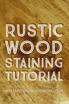 This is a one step rustic wood staining tutorial that allows you to create a distressed and varied look with your wood stain. This is the secret to making wood look old and rustic with one simple product and application method. Happy building.