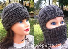 Crochet Fold Over Hat-