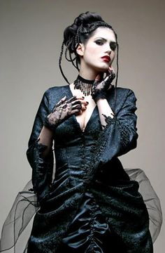 Neo-Victorian #Goth girl from Pandimonia Russia