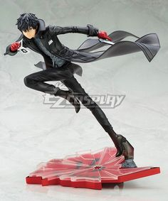 Persona 5 Joker Protagonist Akira Kurusu Cosplay Costume (All Artificial Leather)