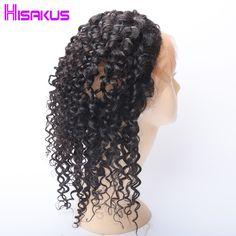 Hisakus 360 Lace Frontal With Baby Hair Peruvian Water Wave Hair Non-remy Human Hair Free Part Closure Natural Color