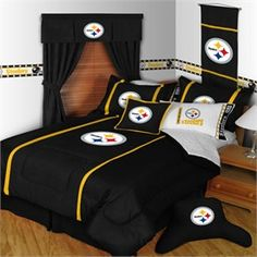 Pittsburgh Steelers MVP Football Full/Queen Comforter - FINAL SALE