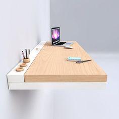 un bureau suspendu, design moderne élégant