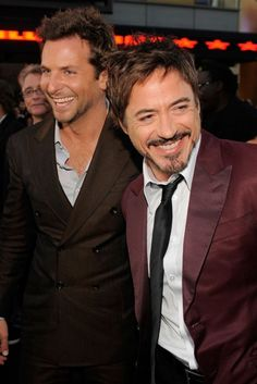 Bradley Cooper and Robert Downey, Jr. This may be the hottest picture in existence!