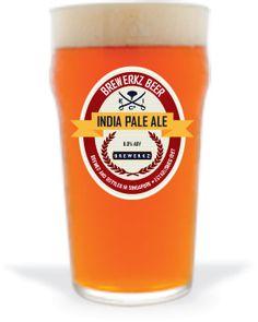 Cerveja Brewerkz India Pale Ale, estilo India Pale Ale (IPA), produzida por Brewerkz, Cingapura. 6% ABV de álcool.